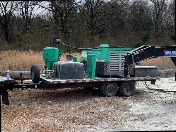 2015 DB800 Dustless Blasting Unit & Trailer