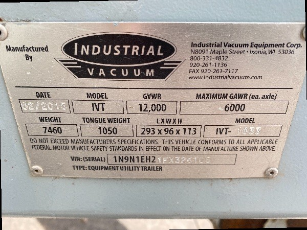 Industrial Vacuum Trailer