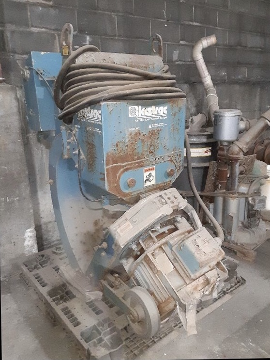 Blastrac Model 1-20D and dust collector