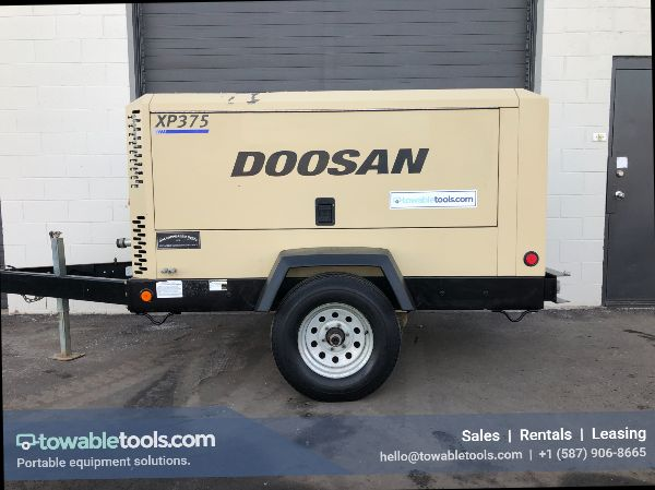 Doosan XP375 - 375 CFM Portable Diesel Tow Behind Air Compressor