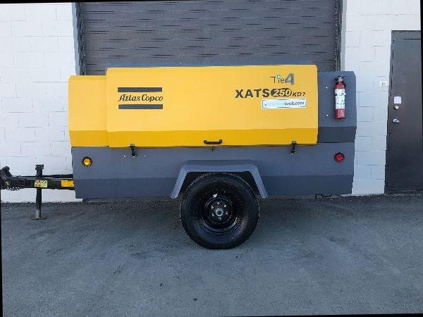 Atlas Copco XATS 250 CFM Portable Diesel Towable Air Compressor