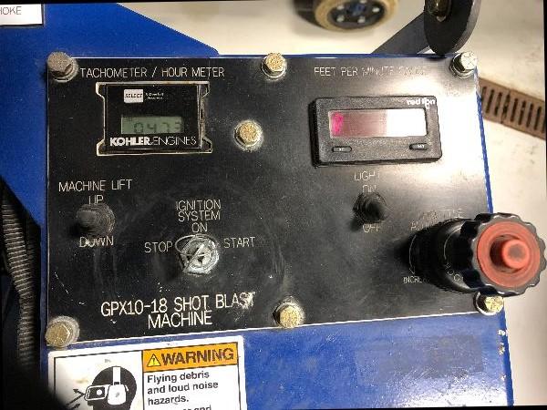 2015 Blastrac 1-10DLP Portable Propane Ride On Shot Blaster